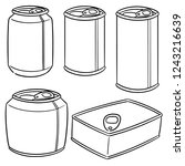 vector set of cans | Shutterstock .eps vector #1243216639