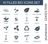 bio icons. set of 16 filled bio ... | Shutterstock .eps vector #1243217050
