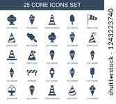 cone icons. set of 25 filled... | Shutterstock .eps vector #1243223740