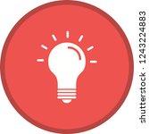 bulb glyph round circle multi...   Shutterstock .eps vector #1243224883