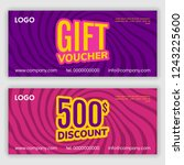 gift voucher template. vector... | Shutterstock .eps vector #1243225600