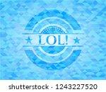lol  realistic light blue...   Shutterstock .eps vector #1243227520