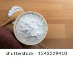top view of sweet potato starch ... | Shutterstock . vector #1243229410