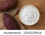 top view of sweet potato starch ... | Shutterstock . vector #1243229416