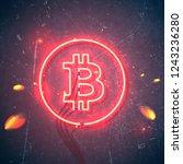 neon sign. retro neon sign... | Shutterstock .eps vector #1243236280