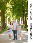 happy family with two kids... | Shutterstock . vector #1243240756