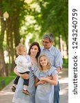 happy family with two kids... | Shutterstock . vector #1243240759