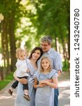 happy family with two kids... | Shutterstock . vector #1243240780
