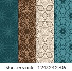 set of geometric seamless... | Shutterstock .eps vector #1243242706