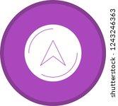 navigation glyph round circle...   Shutterstock .eps vector #1243246363