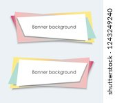 colorful banners background...   Shutterstock .eps vector #1243249240