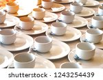 many rows pattern of ceramic...   Shutterstock . vector #1243254439