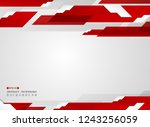 abstract of futuristic gradient ...   Shutterstock .eps vector #1243256059