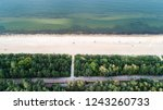 seashore and green trees from...   Shutterstock . vector #1243260733