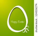 Vector Paper Card With Easter...