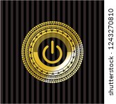 power icon inside golden emblem ... | Shutterstock .eps vector #1243270810