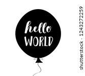 hello world  nursery poster in... | Shutterstock .eps vector #1243272259