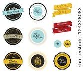 set of vintage sale labels ... | Shutterstock .eps vector #124328083