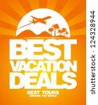 best vacation deals advertising ... | Shutterstock .eps vector #124328944