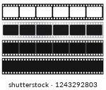 film strip collection. vector... | Shutterstock .eps vector #1243292803