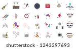 new years eve icon set | Shutterstock .eps vector #1243297693