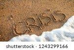 conceptual photo of sea waves... | Shutterstock . vector #1243299166