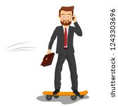 young handsome businessman with ...   Shutterstock .eps vector #1243303696