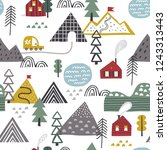 scandinavian forest vector... | Shutterstock .eps vector #1243313443