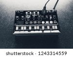black analog synthesizer  close ... | Shutterstock . vector #1243314559
