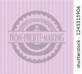 non profit making retro style... | Shutterstock .eps vector #1243315906