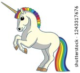 cartoon magic unicorn pony... | Shutterstock .eps vector #1243317676