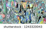 irregular colorful various... | Shutterstock . vector #1243320043