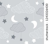 seamless pattern with sky... | Shutterstock .eps vector #1243326430