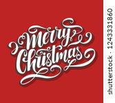 merry christmas vector... | Shutterstock .eps vector #1243331860