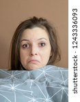 disheveled woman because of...   Shutterstock . vector #1243336093