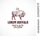 buffalo abstract vector sign ... | Shutterstock .eps vector #1243349179