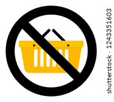 not shopping icon. banned and... | Shutterstock . vector #1243351603