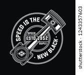 retro vintage design  for biker.... | Shutterstock .eps vector #1243357603