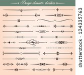 set of 30 vector calligraphic... | Shutterstock .eps vector #124335763