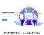 gift or degree certificate... | Shutterstock .eps vector #1243359409