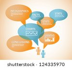 infographic thought bubble... | Shutterstock .eps vector #124335970