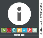 very useful icon of info with...
