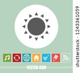 very useful vector icon of sun...