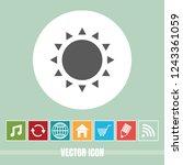 very useful vector icon of sun...