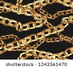 seamless gold chain... | Shutterstock .eps vector #1243361470