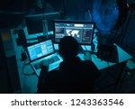 wanted hackers coding virus... | Shutterstock . vector #1243363546