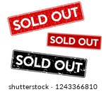 sold out. red grunge stamp ... | Shutterstock .eps vector #1243366810