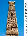 saxon stone monument | Shutterstock . vector #1243379053