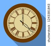 isolated object of clock and... | Shutterstock .eps vector #1243381843