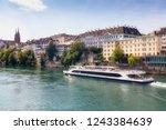 basel  switzerland   august 1 ... | Shutterstock . vector #1243384639